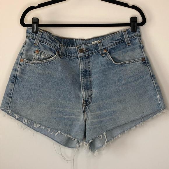 Vintage Levi's 550 Orange Tab High Waist Shorts